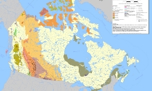 Coal Resources; Depicted on the map are the major coal deposits in Canada categorized by rank, the locations of major coal fields and coal mines.