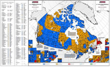 41st general election (2011) map, Elections Canada.